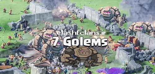 آموزش استراتژی 7 Golems در کلش آف کلنز