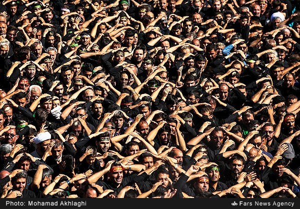 Shia muslims Mourning for Imam Hossein 2016...here is iran ..all iran cry for imam hossein...