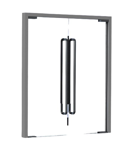 دانلود مدل سه بعدی درب شیشه ای سالیدورکز