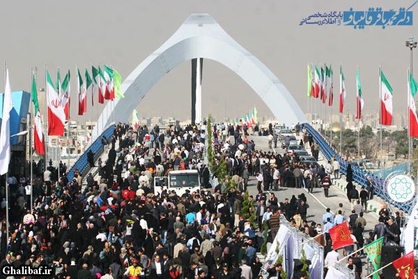 افتتاح پل جوادیه