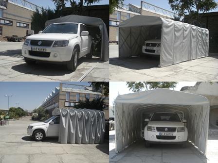 پارکینگ خودرو :: سقف وسایبان متحرک/چترهای متحرکپارکینگ متحرک