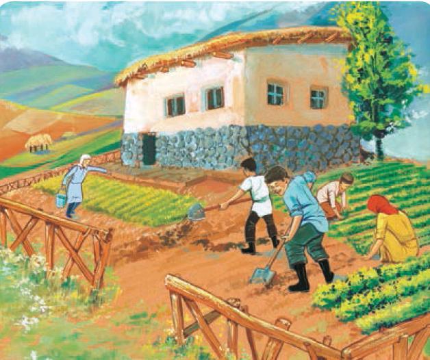 انشا تصویر نویسی پایه هفتم صفحه 23 روستا و طبیعت