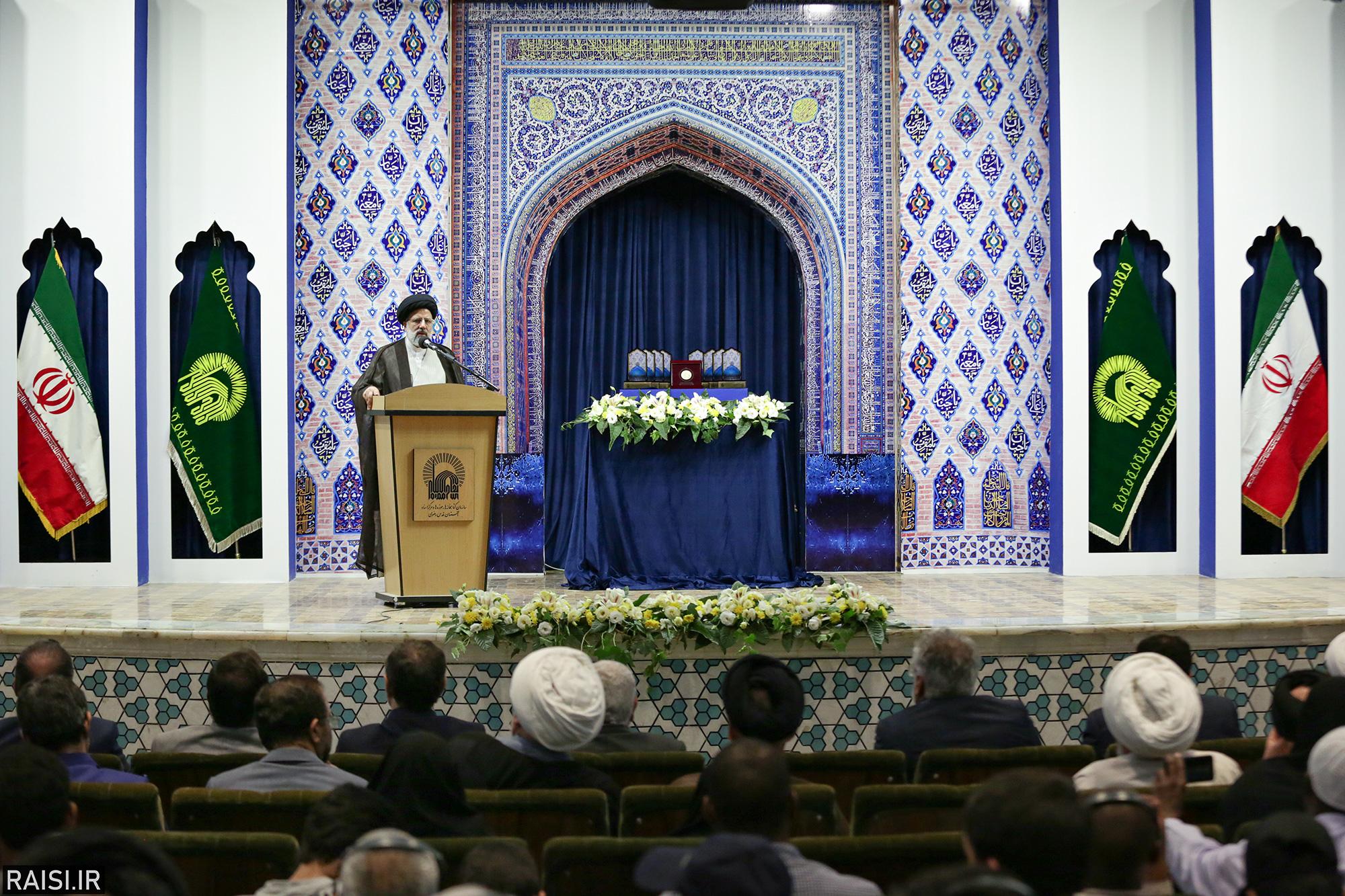 گزارش تصویری آیین اختتامیه سومین دوره جایزه جهانی گوهرشاد با حضور تولیت آستان قدس رضوی