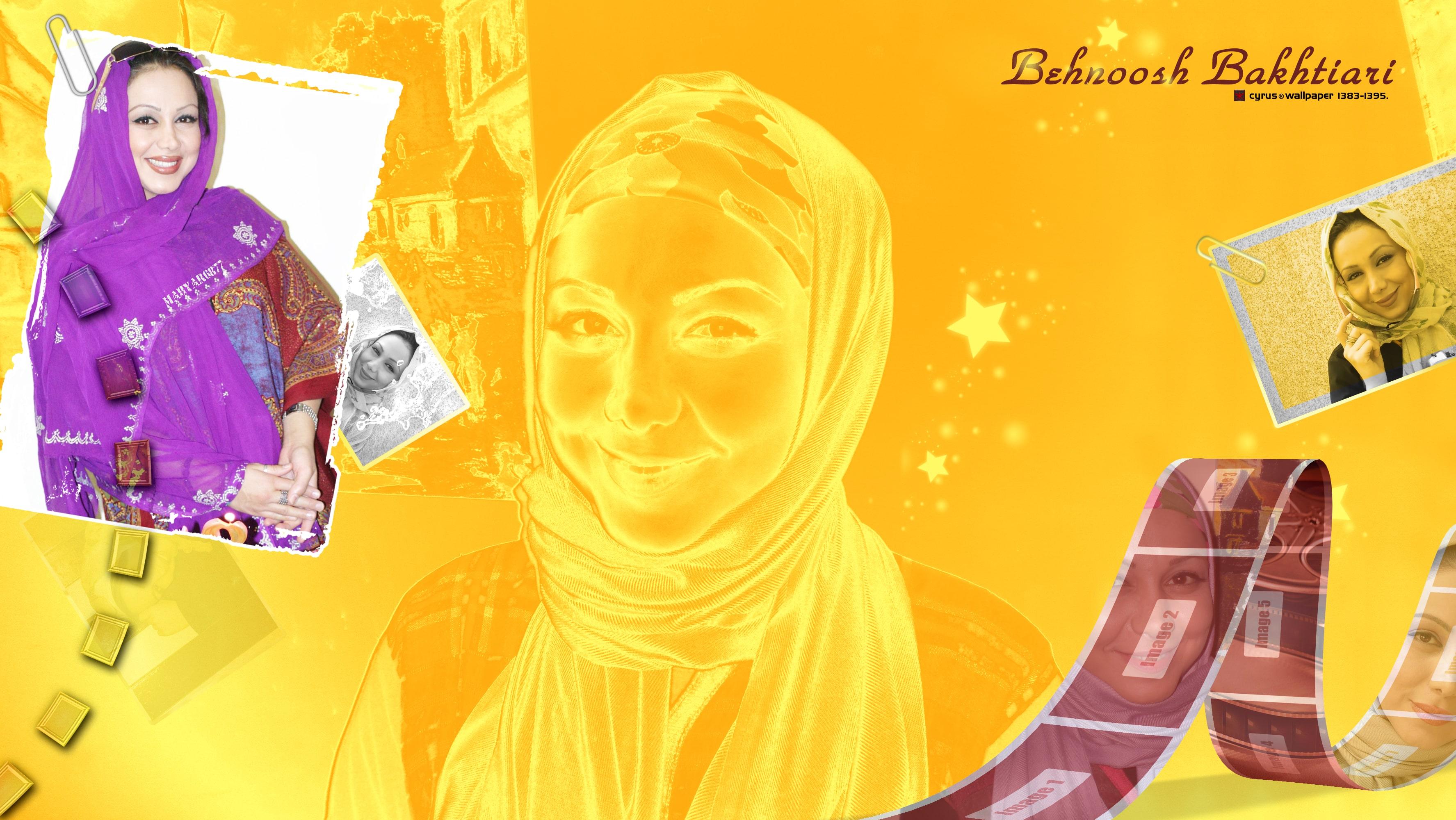 والپیپر بهنوش بختیاری بازیگر طنز سینمای ایران در قالبی طلایی