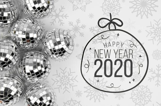 کارت پستال تبریک سال نو میلادی 2020