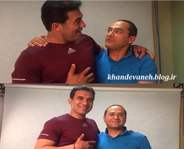 عکسهای احمدرضا عابدزاده و جناب خان و رامبد جوان مهمان برنامه خندوانه فصل سوم