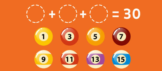 برای جمع کردن 30 توپ ، کدام توپ را باید در سوراخ قرار دهید؟