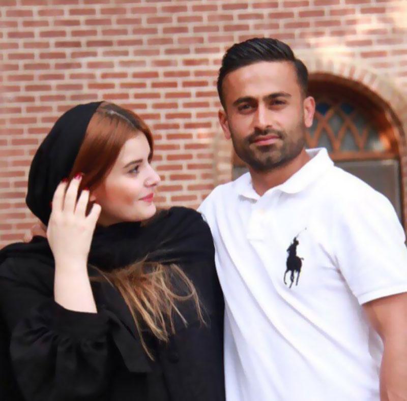 عکس امید ابراهیمی به همراه همسرش