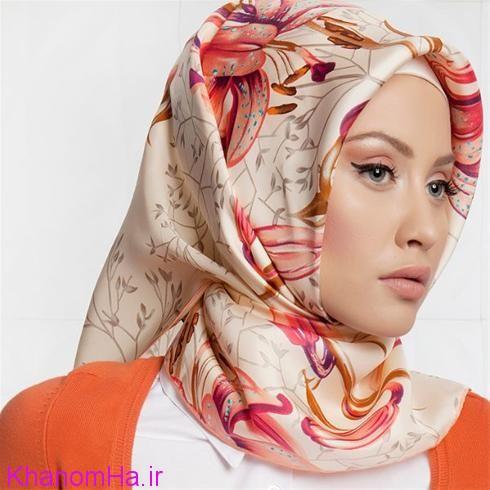 مدل روسری ساتن