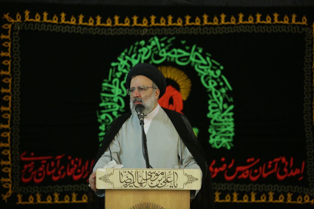 گزارش تصویری:مراسم اهدا پرچم متبرک آستان قدس با حضور حجت الاسلام رئیسی تولیت آستان قدس رضوی
