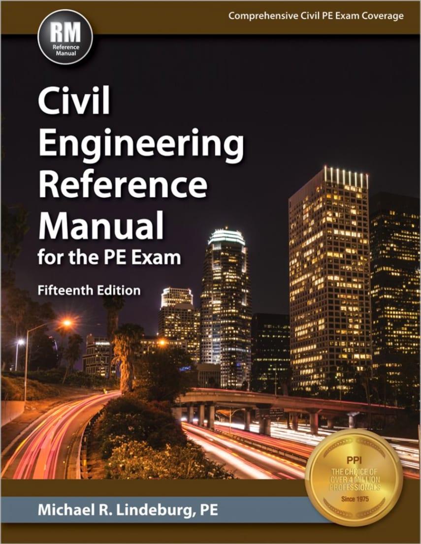 نسخه 14 از کتاب جامع مهندسی عمران برای کسانی که قصد شرکت در آزمون مهندسی  حرفه ای را دارند. نام کتاب : CIVIL ENGINEERING REFERENCE MANUAL ...