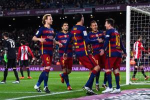 نتیجه فیلم خلاصه بازی گلهای بارسلونا اتلتیک بیلبائو جام حذفی اسپانیا 8 بهمن 94