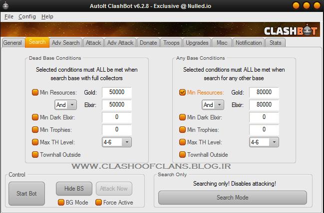ربات حمله اتوماتیک کلش آف کلنز (ClashBot V6.2.8)