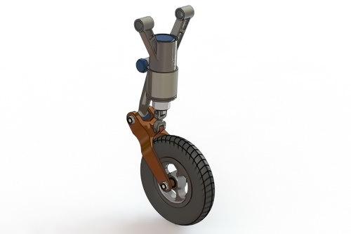 مدل آماده سالیدورک - چرخ هواپیما