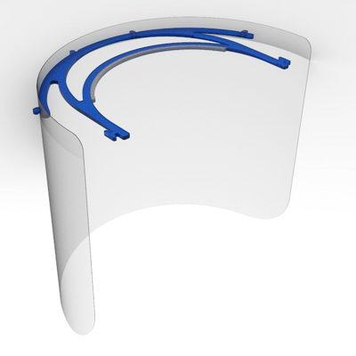 مدل آماده شیلد صورت برای مقابله با کرونا به صورت سه بعدی با قابلیت پرینت سه بعدی