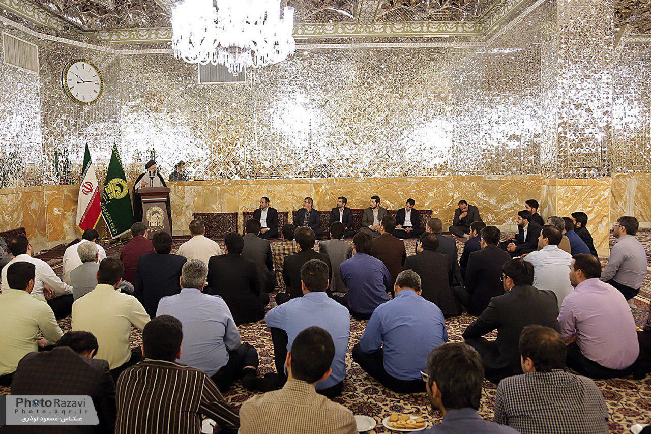 گزارشتصویری:حجتالاسلام سید ابراهیم رئیسی در دیدار با مدیران حراست آستان قدس رضوی