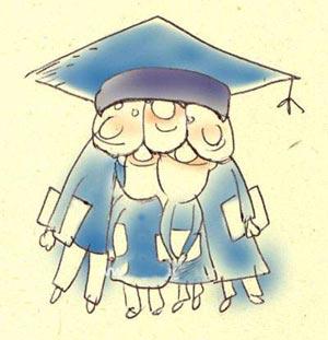 کاریکاتور دانشجو