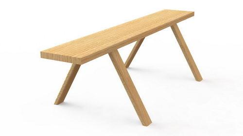 پروژه رایگان نیمکت چوبی