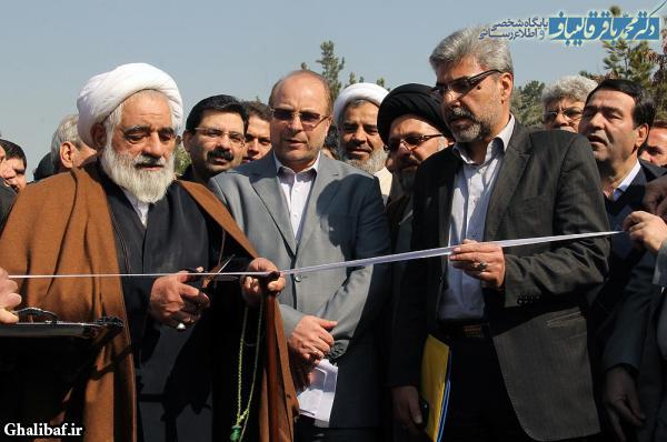 مراسم پایان کار احداث پروژه بزرگراه شهید باقری