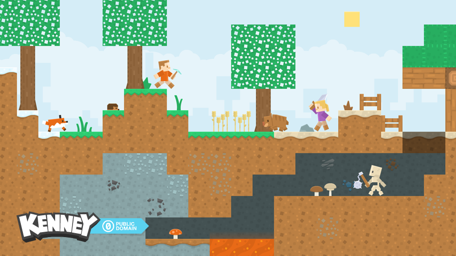 دانلود اسپرایت و کاراکتر های پیکسلی برای بازی های پلت فرم