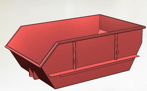 مدل رایگان ظرف زباله در Solidworks