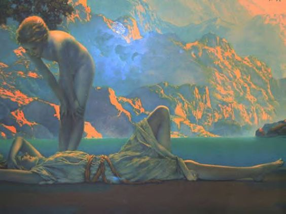 Daybreak Series by Maxfield Parrish