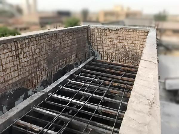 خراب شدن بدنه بتنی در برج خنک کننده کارخانه فولاد