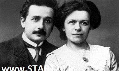 انیشتن و همسر او