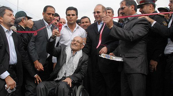 مراسم بهره برداری از پل شهیدان در بزرگراه یادگار امام(ره)