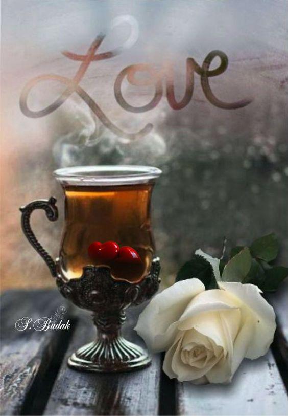 عکس فنجان چای در فصل پاییز برای پروفایل