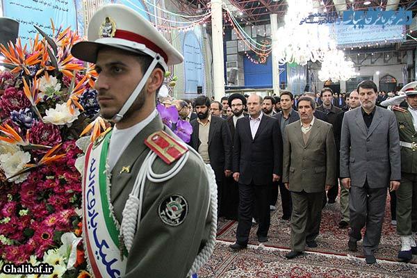 گزارش تصویری تجدید میثاق دکتر قالیباف و کارکنان شهرداری با آرمانهای حضرت امام(ره)