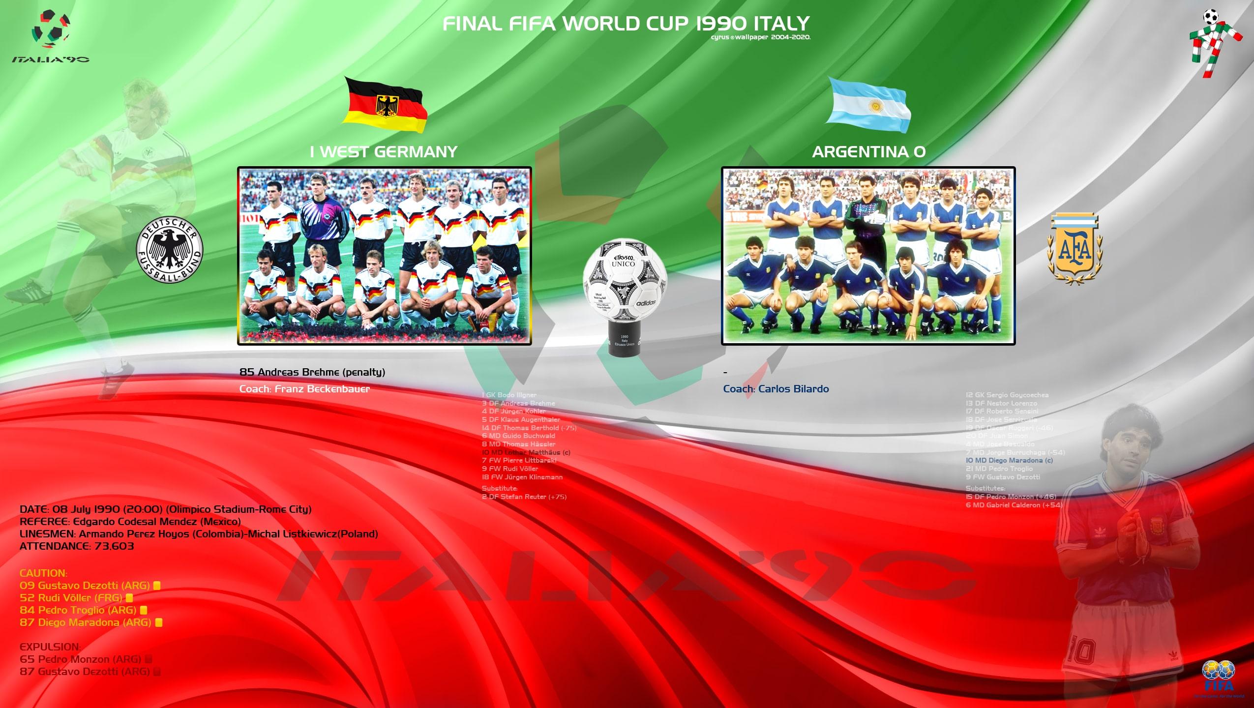 والپیپر فینال جام جهانی 1990 ایتالیا