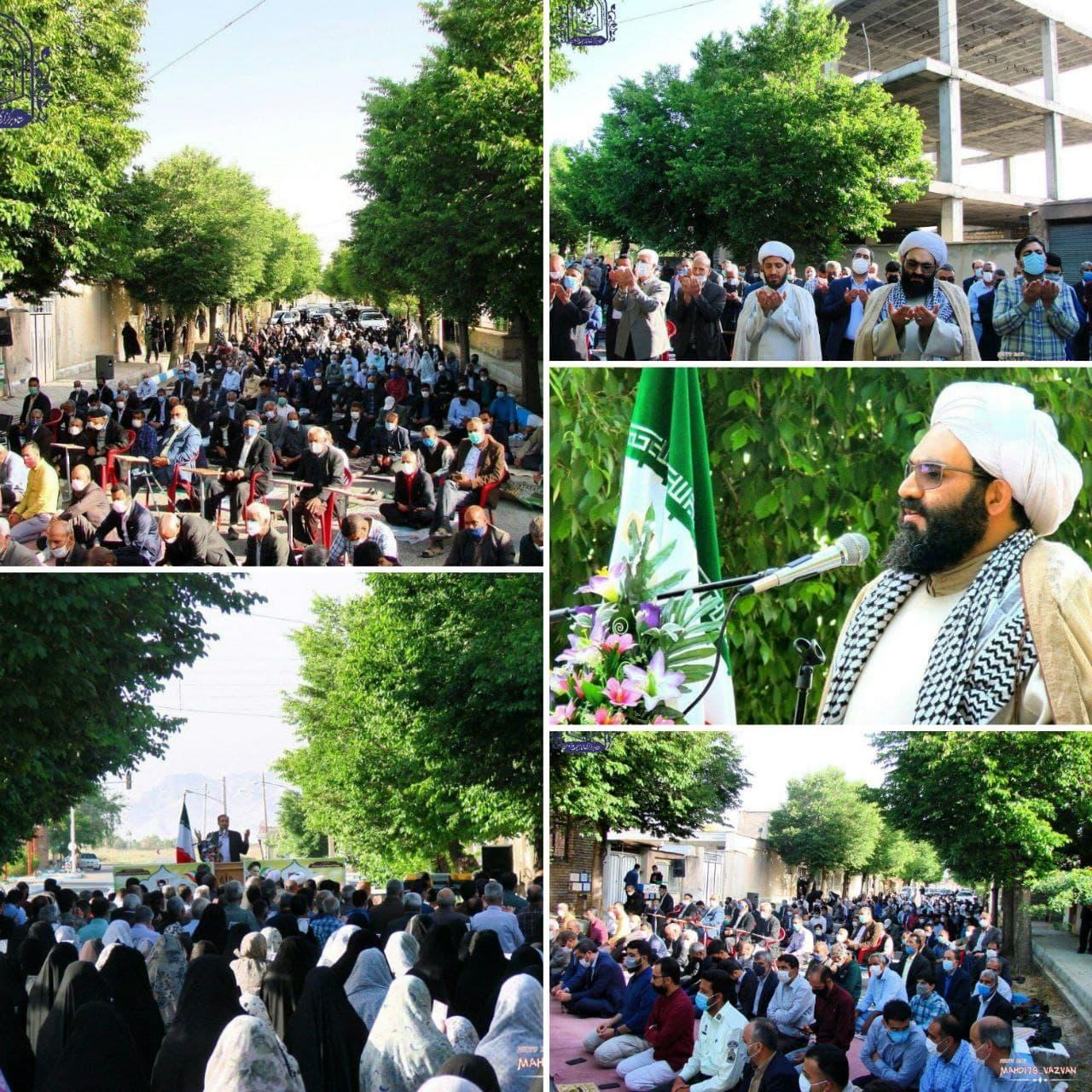 گزارش تصویری؛ نماز عید سعید فطر ۱۴۴۲