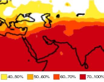 وضعیت پرارتفاع جنب حاره در پاییز 95