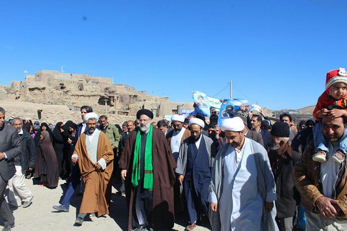 سفر حجت الاسلام و المسلمین رئیسی به دهک، گیومختاران و شوسف
