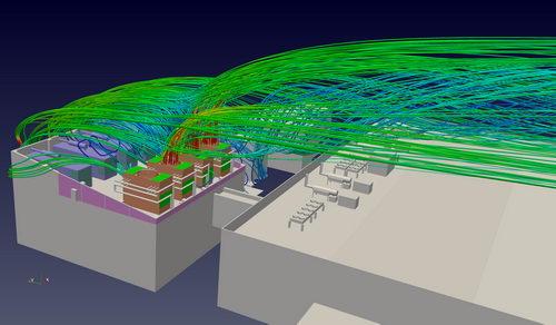 شبیه سازی جریان هوا در برج خنک کننده