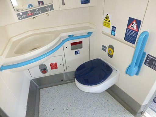 راهنمای استفاده از دستشویی قطار