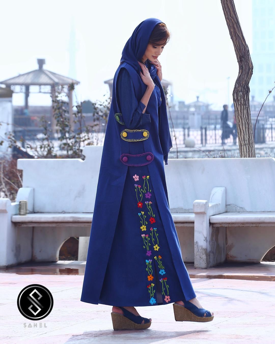 مدل مانتو تابستانی دخترانه با گل دوزی