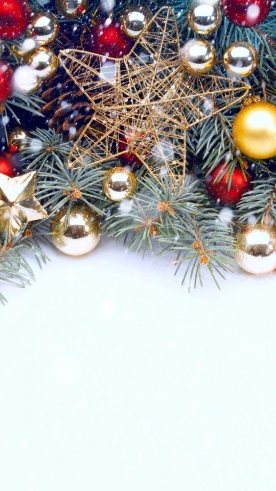 عکس زیبا تزئینات کریسمس برای بک گراند موبایل