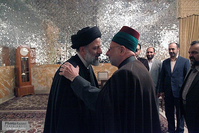 دیدار تولیت آستان مقدس امام حسین(ع) با حجت الاسلام والمسلمین رئیسی