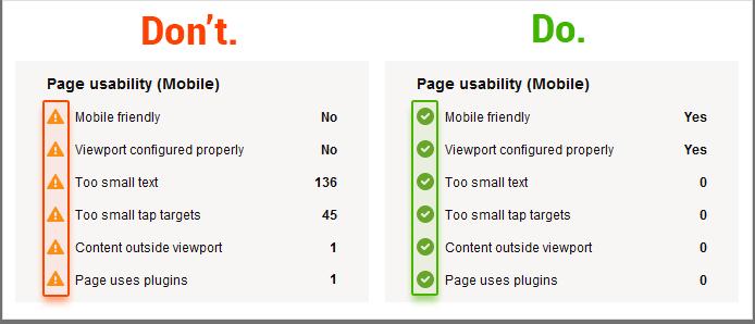 مسائل سایت در موبایل برای SEO