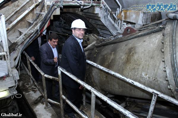 بازدید شهردار تهران از نیمه جنوبی خط ۳ مترو