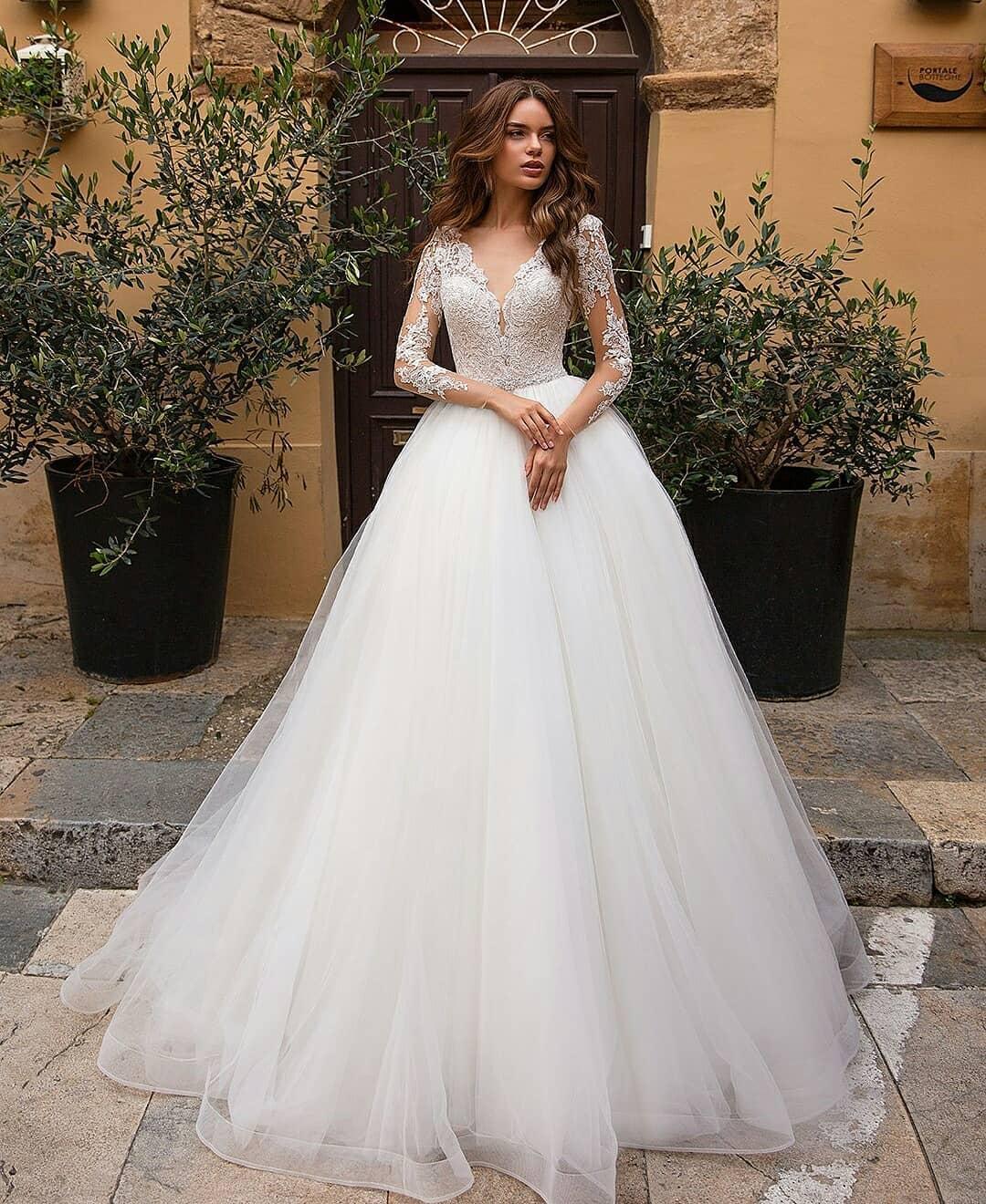 لباس عروس ساده پرنسسی