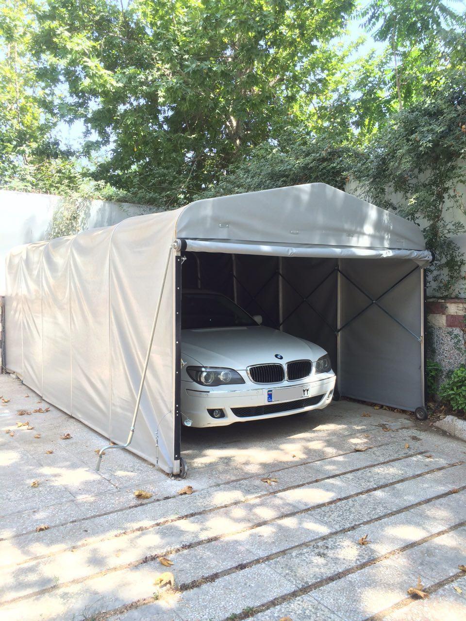 پارکینگ خودرو :: سقف وسایبان متحرک/چترهای متحرکپارکینگ