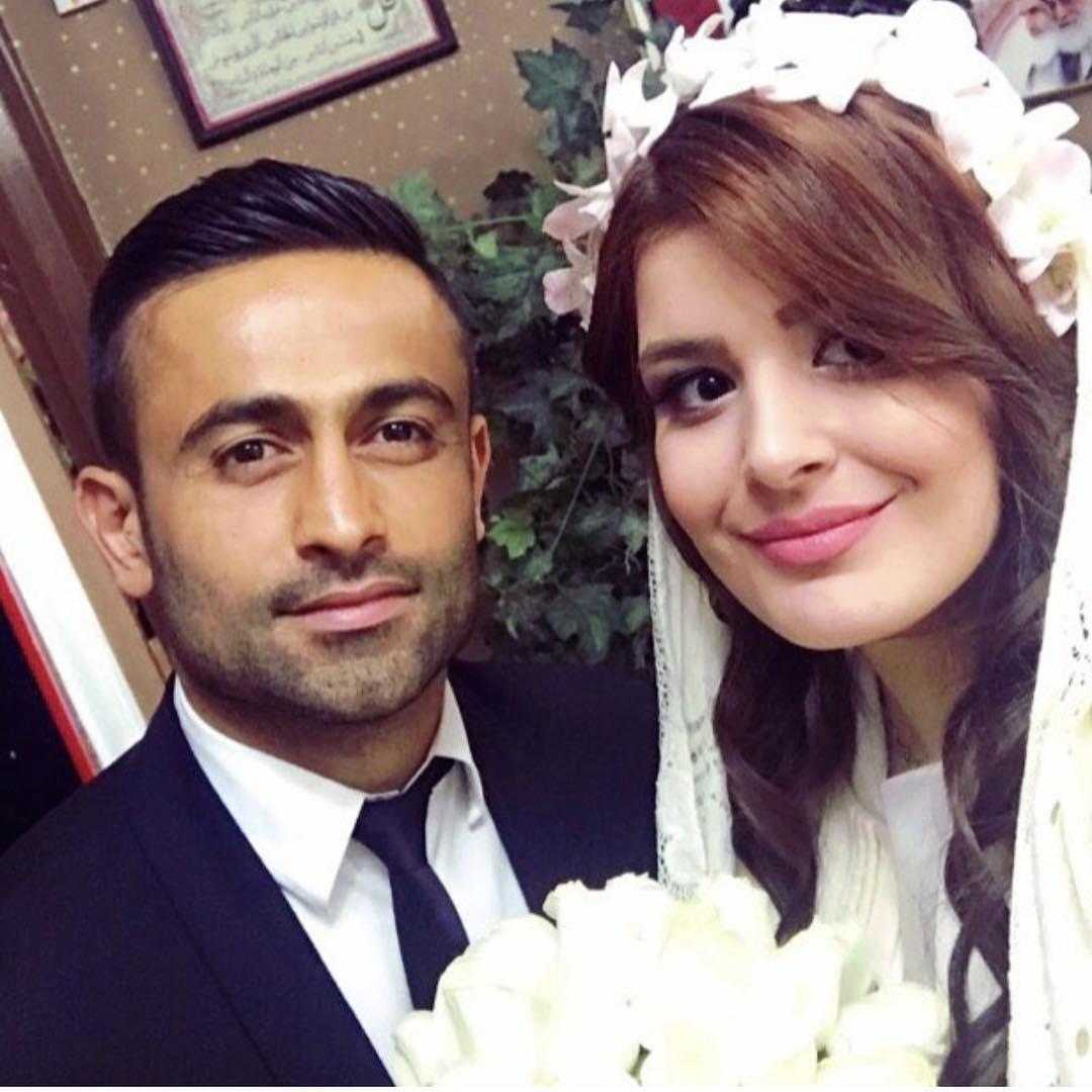 عکس عروسی امید ابراهیمی