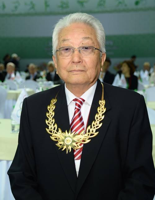 پرفسور چانگ اُونگ (رئیس اسبق ITF) و رئیس افتخاری مادام العمر ITF