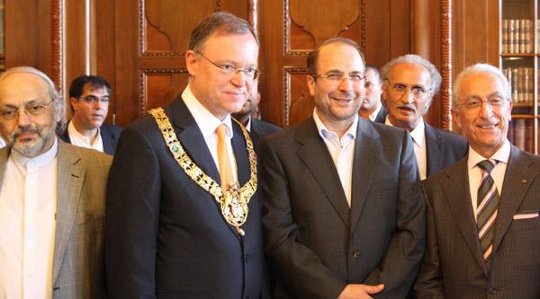 دیدار دکتر قالیباف با صدر اعظم پیشین و شهردار هانوفر آلمان