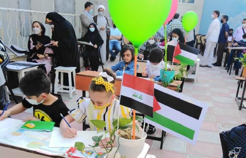 هنری/ گزارشی از کارگاه نقاشی بینالمللی حوزه هنری در مشهد با حضور کودکانی از کشورهای افغانستان، بحرین، عراق، سوریه و یمن