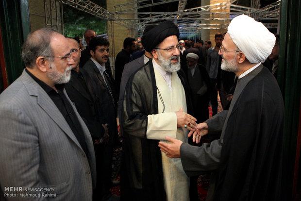 حضور حجت الاسلام رئیسی در مراسم سالگرد آیت الله مهدوی کنی