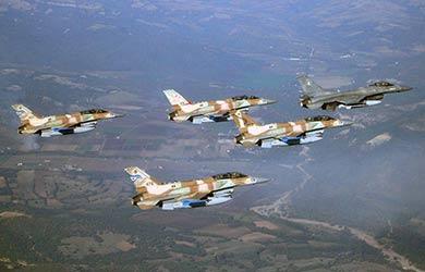 حمله ی هوایی اسراییل به سوریه